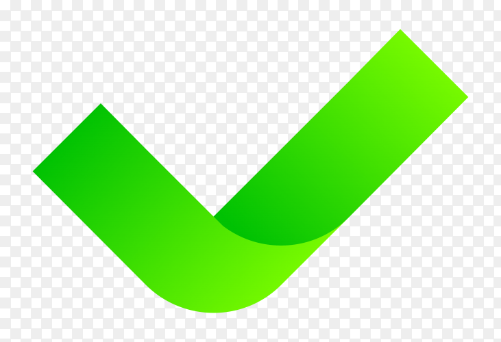 Green right mark vector PNG
