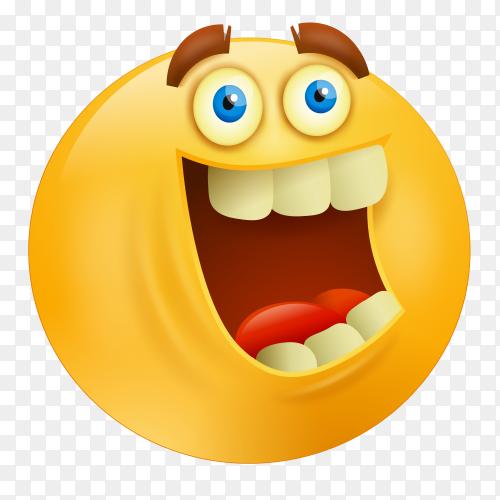 Grinning emoji face on transparent background PNG