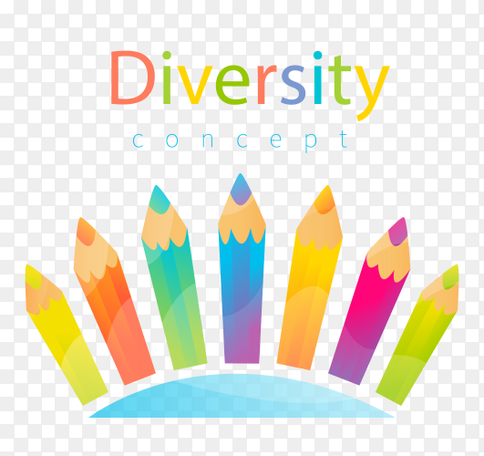 Hand drawn diversity concept on transparent background PNG
