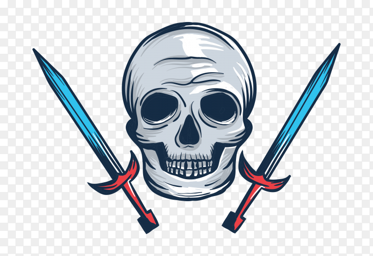 Head skull on transparent background PNG