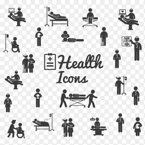 Health icon poster on transparent background PNG