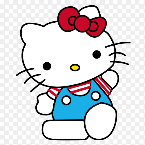 Hello Kitty Icon on transparent background PNG