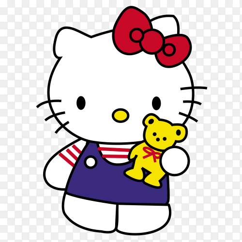 Hello kitty on transparen background PNG