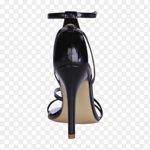 High black heels for woman Premium image PNG
