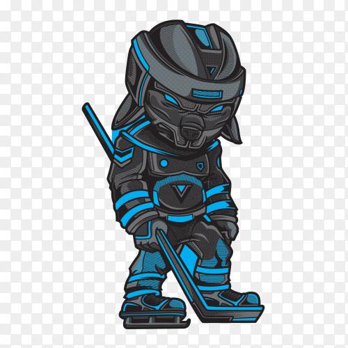 Hockey game player Illustration on transparent background PNG