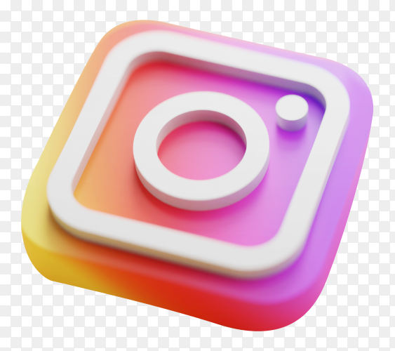 Instagram logo icon on transparent background PNG