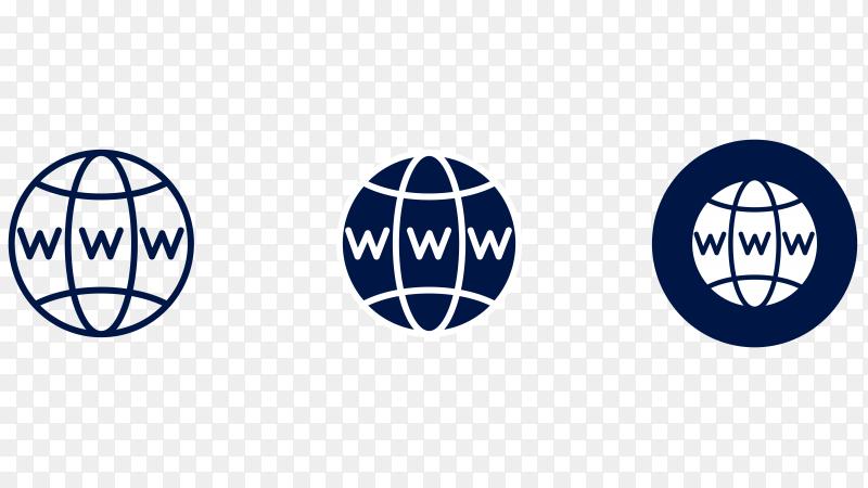 Internet logo design Premium vector PNG