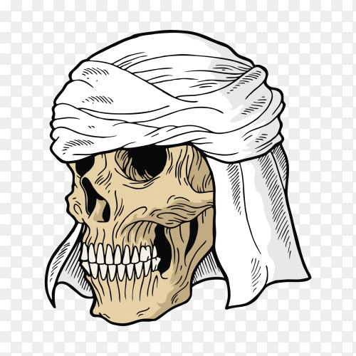 Khalifa skull Character on transparent background PNG