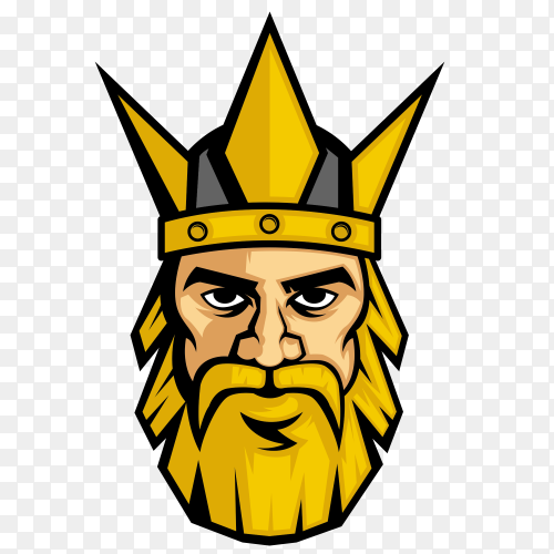 King logo design on transparent background PNG