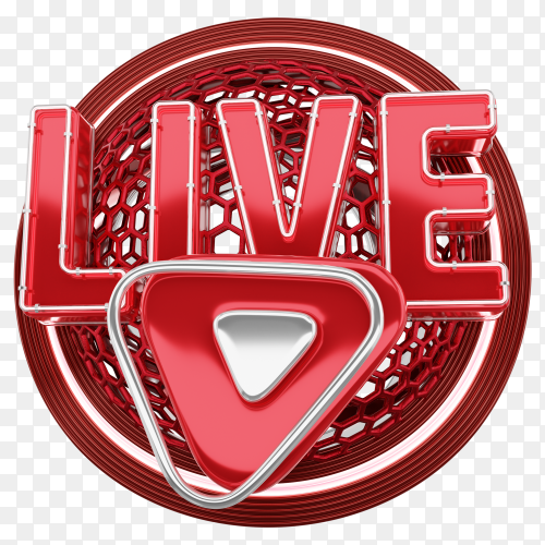 LIVE free icon design on transparent background PNG