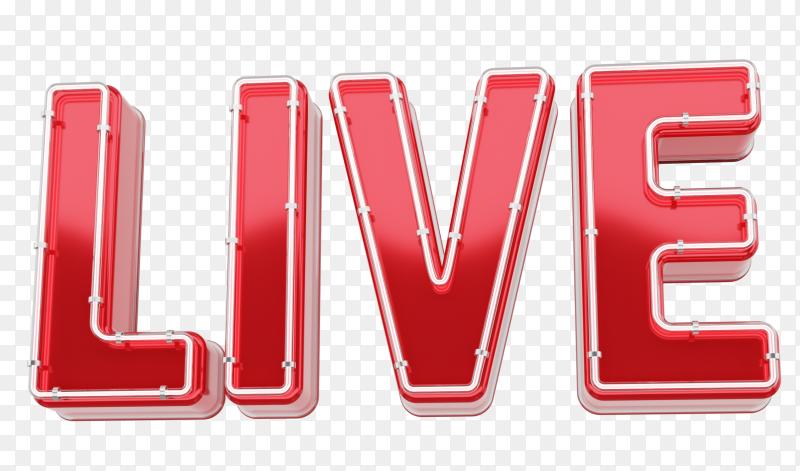 Lettering live design premium vector PNG
