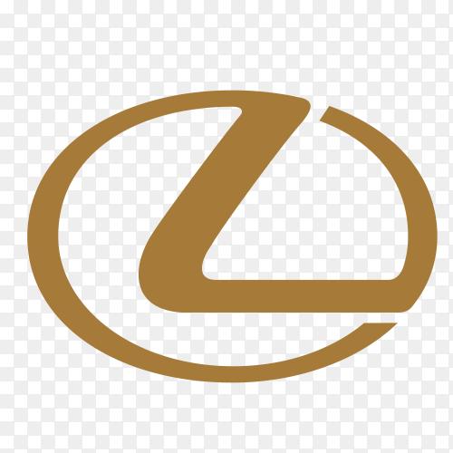 Lexus car logo on transparent background PNG