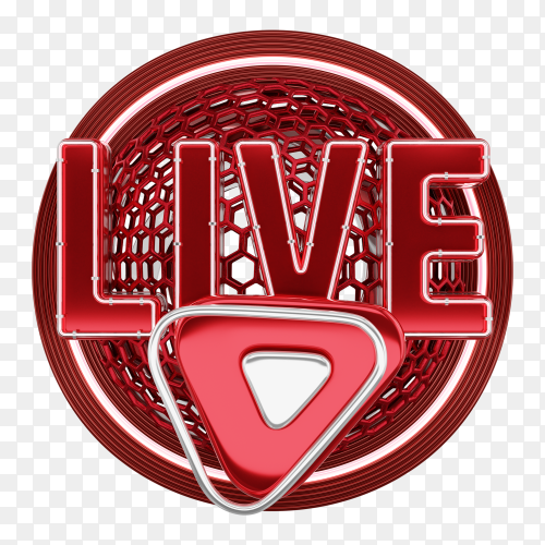 Live sign logo premium vector PNG