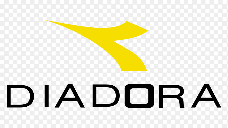 Logo Diadora on transparent background PNG