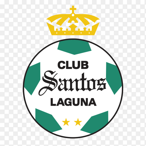 Logo santos laguna on transparent background PNG