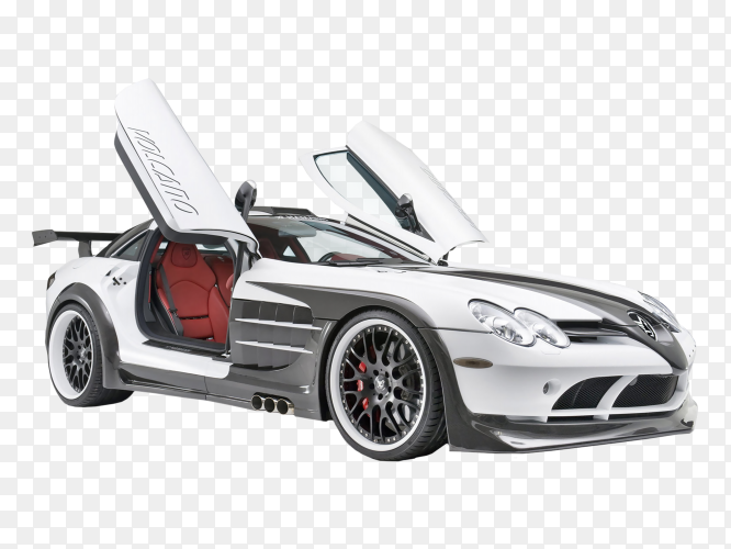 Mercedes sport car on transparent background PNG