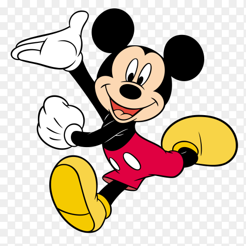 Mickey mouse cartoon on transparent background PNG