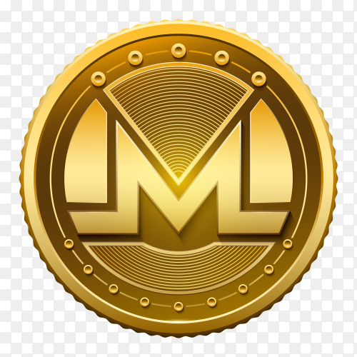 Monero Currency on transparent background PNG