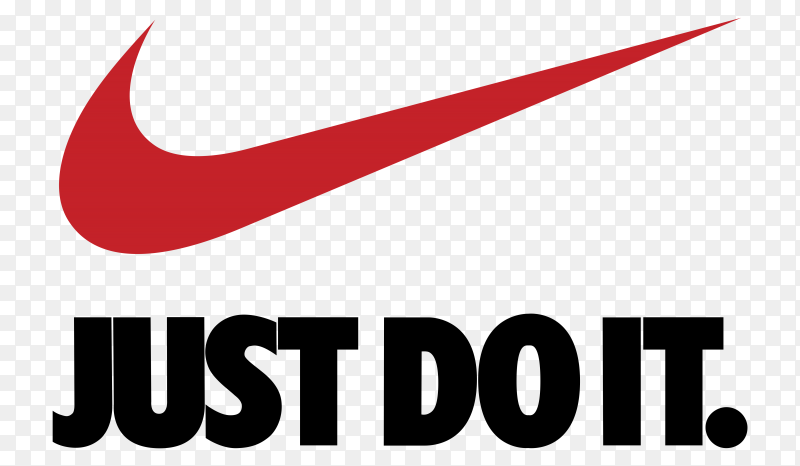 Nike Logo on transparent background PNG