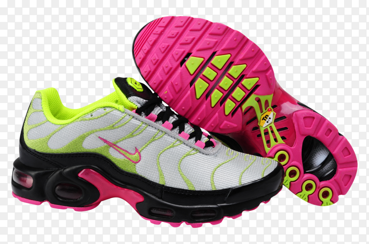 Nike running shoes on transparent background PNG