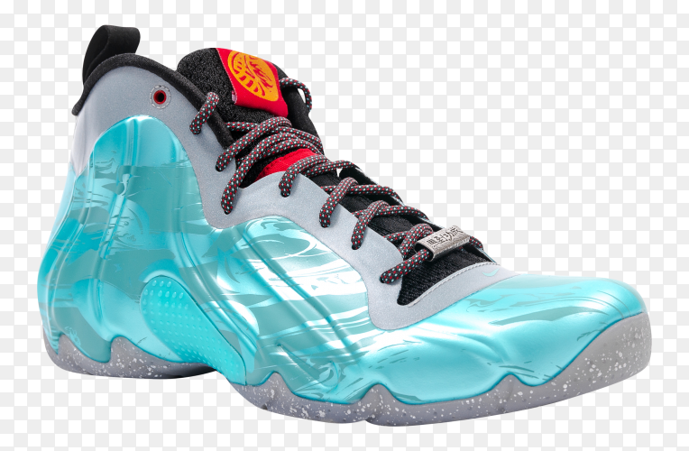 Nike training shoes on transparent background PNG