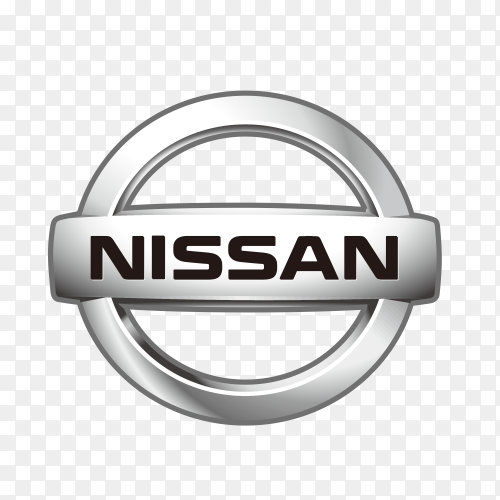 Nissan logo icon on transparent background PNG