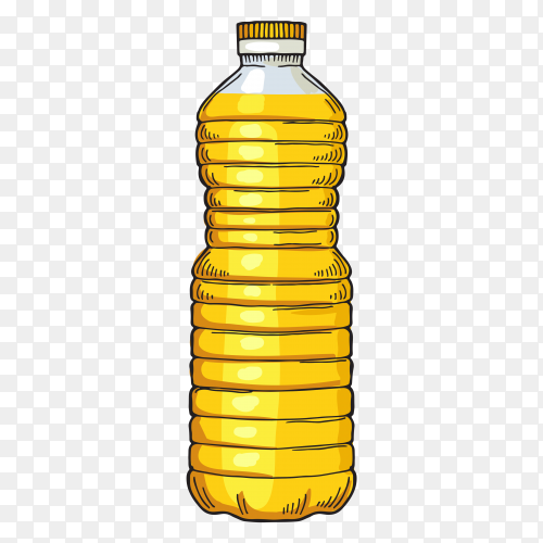 Oil bottle on transparent background PNG
