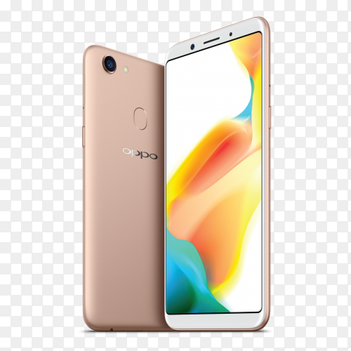 Oppo a73 smartphone mobile on transparent background PNG