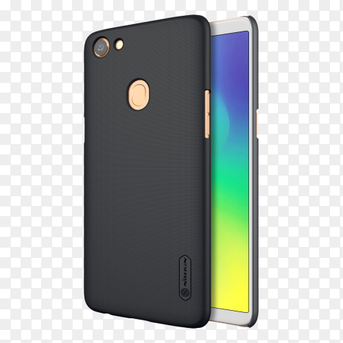 Oppo a79 mobile phone on transparent background PNG