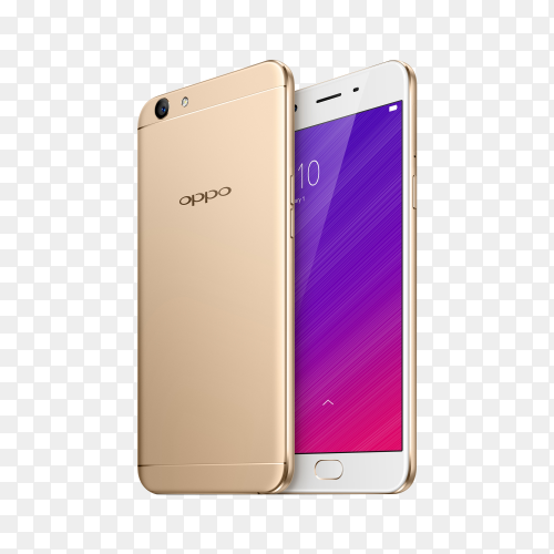 Oppo mobile on tranparent background PNG