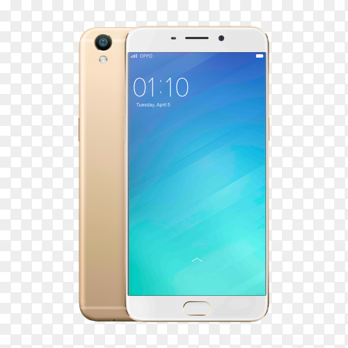 Oppo power by android on transparent background PNG