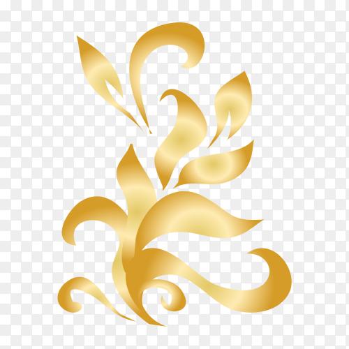 Ornamental creative floral decorative set design Clipart PNG