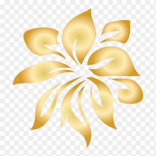 Ornamental creative floral decorative set design premium vector PNG