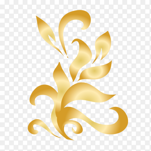 Ornamental creative floral decorative set design vector PNG