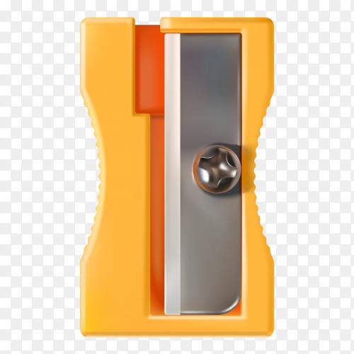 Pencil sharpener design on transparent background PNG