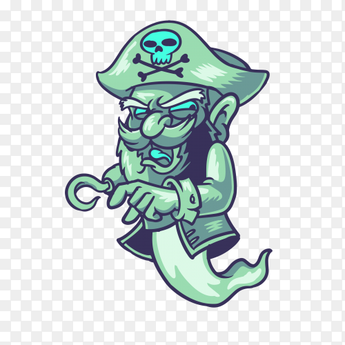Pirate ghost on transparent background PNG