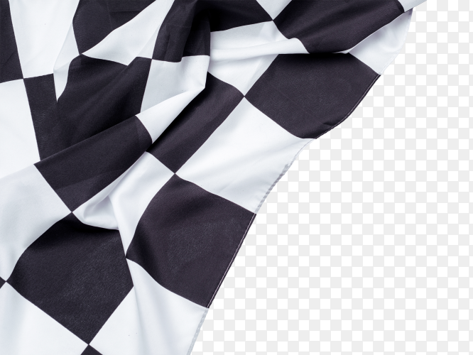 Racing flag on transparent background PNG