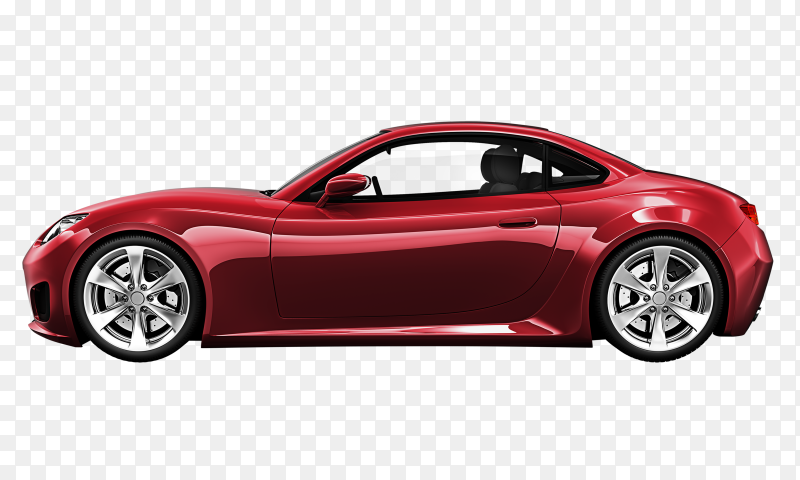 Red car premium vector PNG