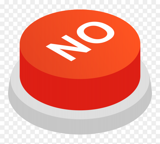 Red no icon design on transparent background PNG