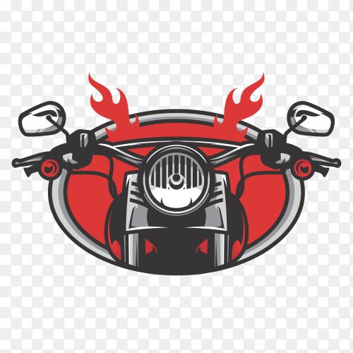 Rider road logo design illustration on transparent PNG