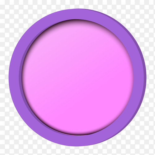 Round pink blusher for makeup vector PNG