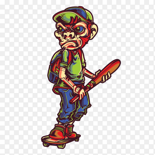 SWG Monkey Boy on transparent background PNG