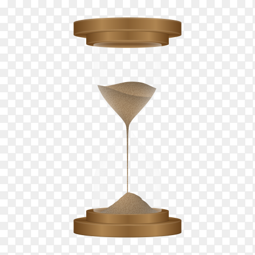 Sand hourglass on transparent background PNG