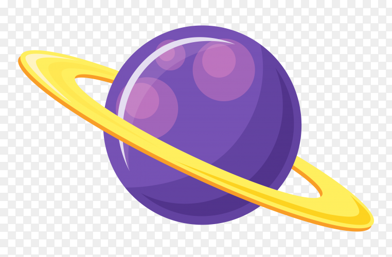 Saturn design on transparent background PNG