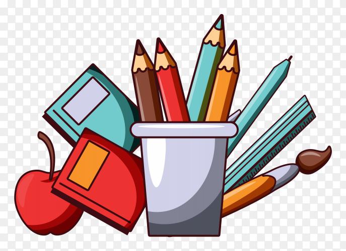 School elements collection  premium vector PNG