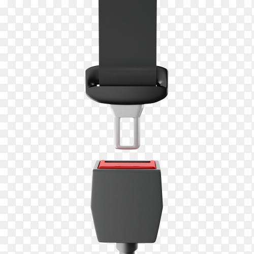 Seat belt close up on transparent background PNG