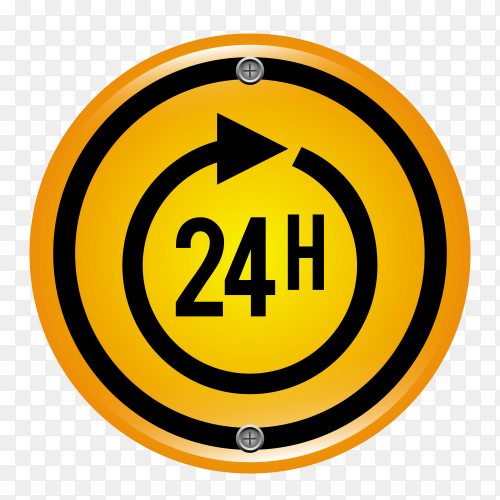 Service taxi 24 hour design on transparent background PNG