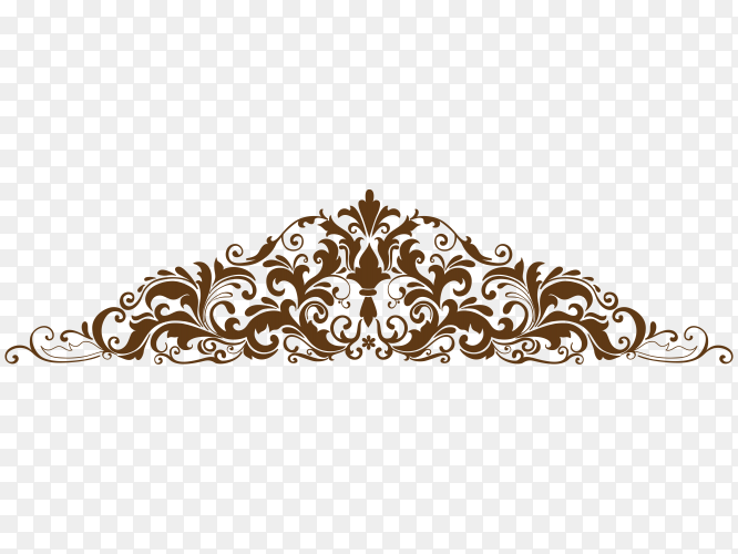 Set of hand drawn decorative floral vector PNG