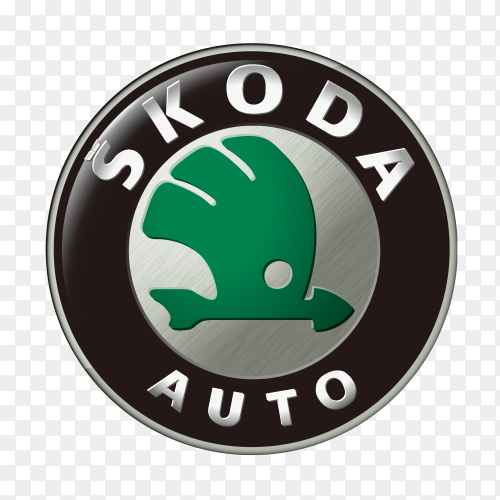 Skoda logo icon on transparent background PNG