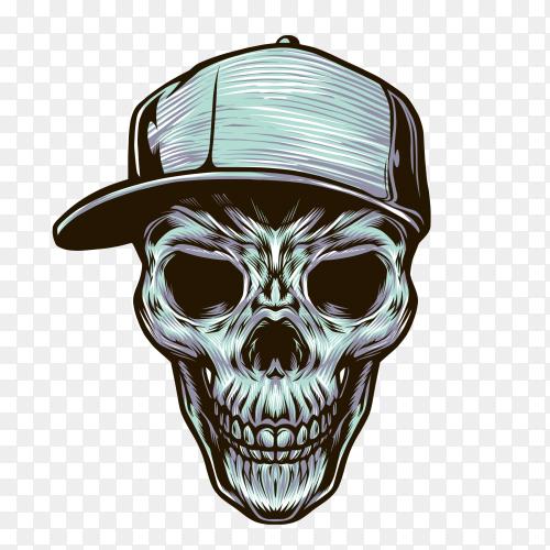 Skull Teenager Illustration on transparent background PNG